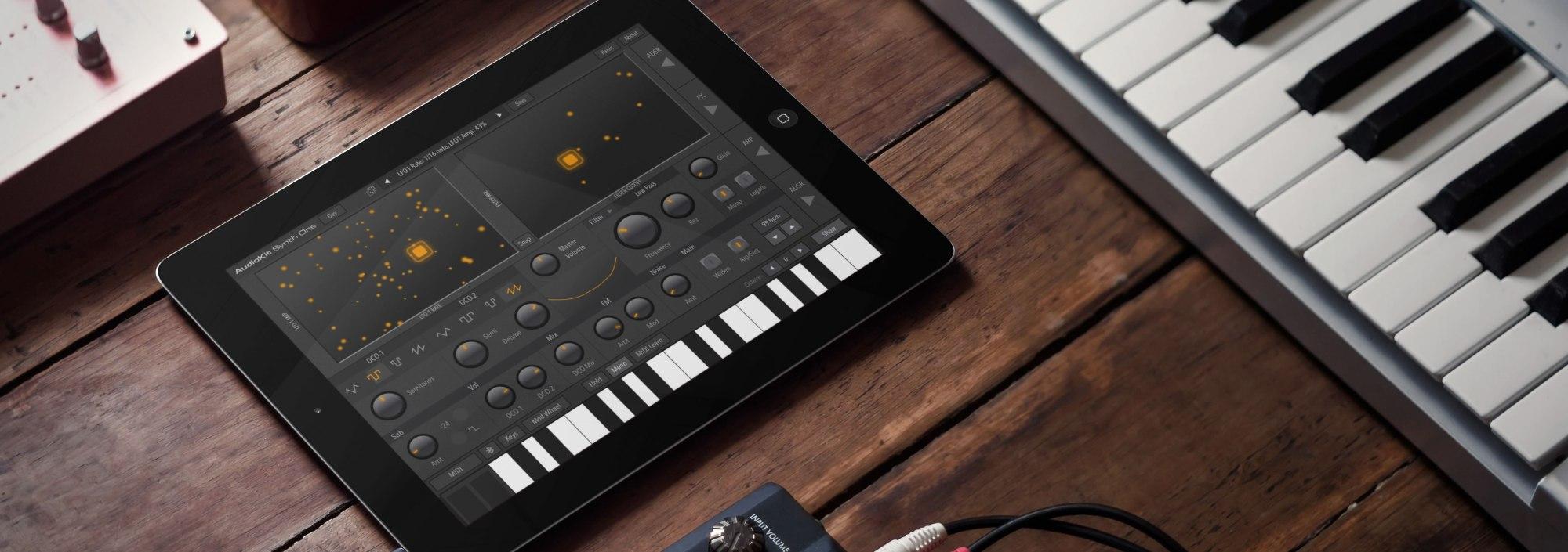 AudioKit Synth One on an iPad