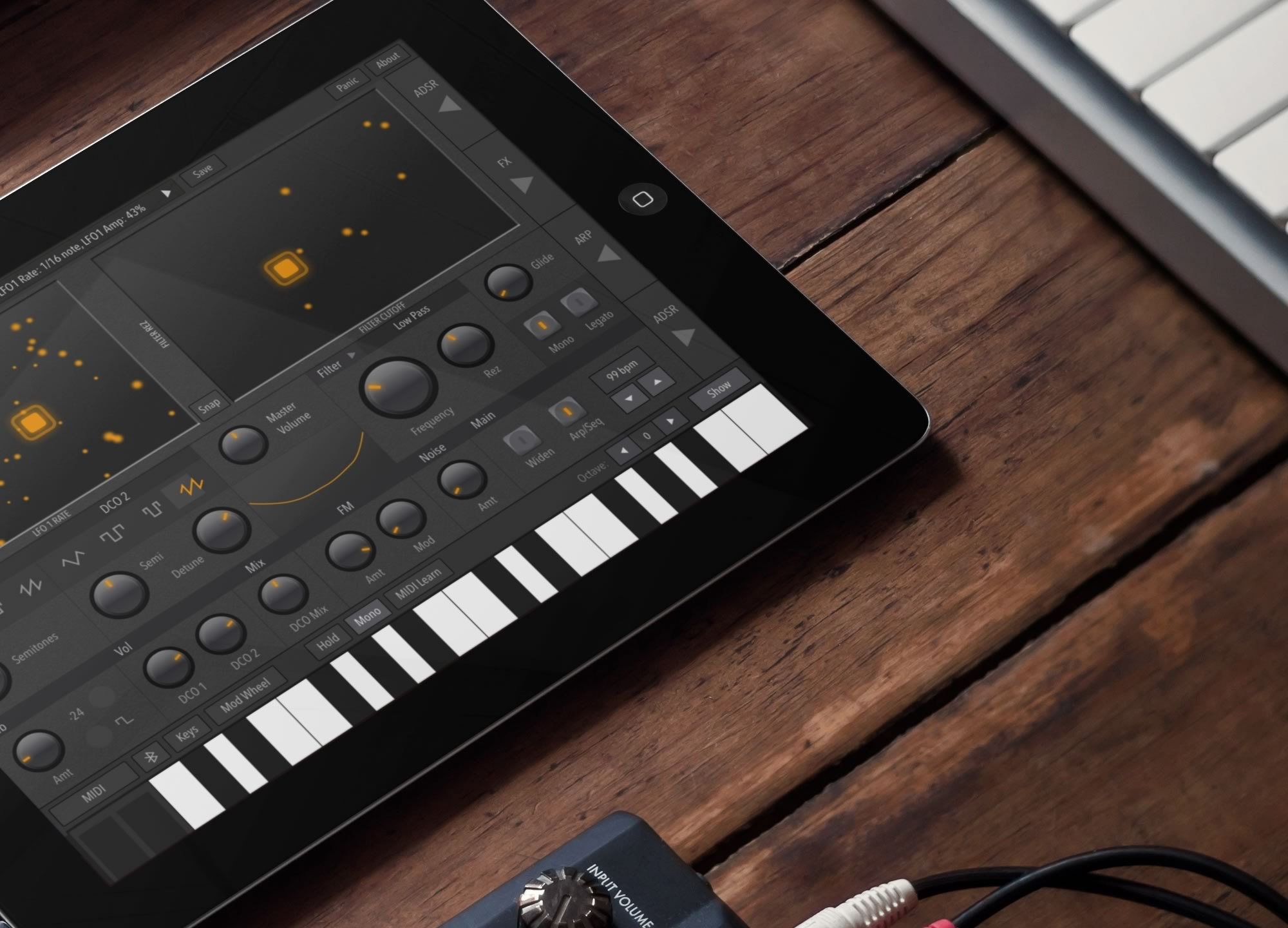 AudioKit Synth One on an iPad